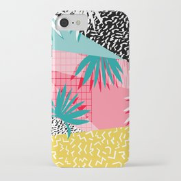Bingo - throwback retro memphis neon tropical socal desert festival trendy hipster pattern pop art iPhone Case