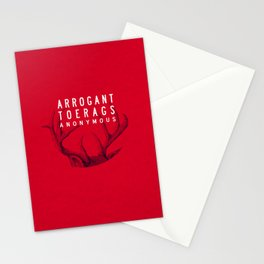 ARROGANT TOERAGS ANONYMOUS Stationery Cards