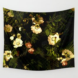 Floral Night III Wall Tapestry