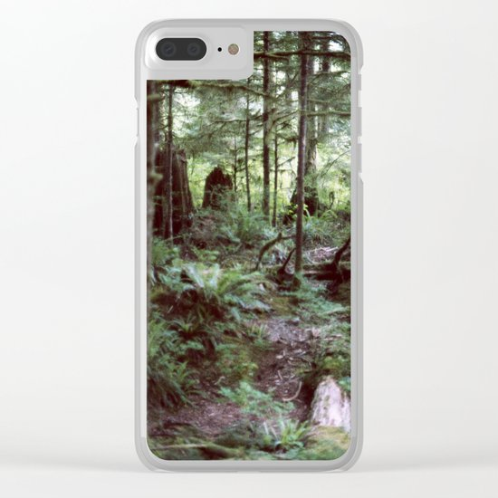 Vancouver Island Rainforest Clear iPhone Case