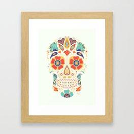 Day of the Dead Sugar Skull Candy Framed Art Print
