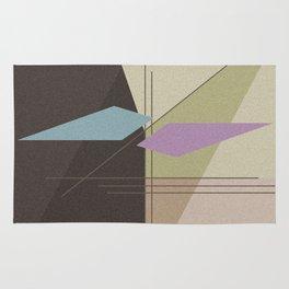 Abstract pattern . Brown -beige . Rug