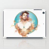 robert downey jr iPad Cases featuring Robert Downey Jr. by Rene Alberto