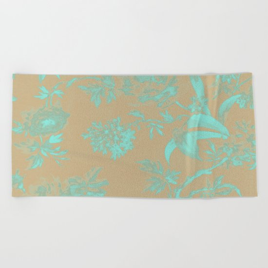 Flowers QY Beach Towel