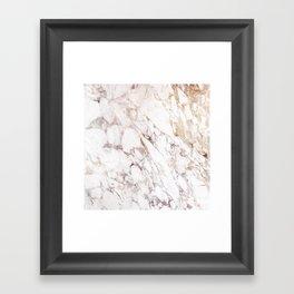White Onyx Marble Framed Art Print