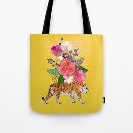 Tiger Bloom Tote Bag