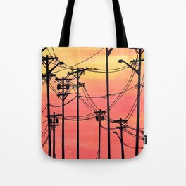 Industry poles sunset Tote Bag