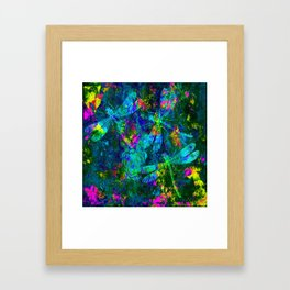 Colorful Dragonflies ZZ R Framed Art Print