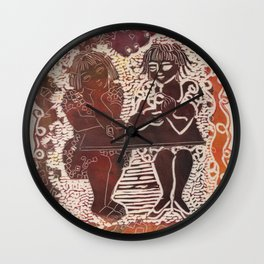 Coffee chat (untitled) Wall Clock