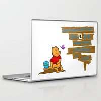 winnie the pooh Laptop & iPad Skins featuring Winnie The Pooh by LaLunaBee