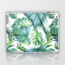 Blue Jungle Leaves, Monstera, Palm #society6 Laptop & iPad Skin