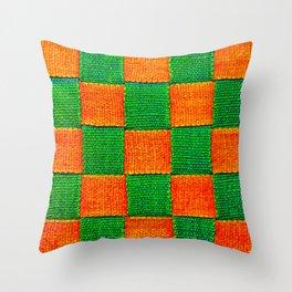 Canvas Straps Throw Pillow