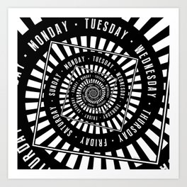 Days of The Week Art Print