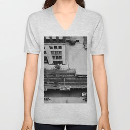 looking down on the tracks ... Unisex V-Neck