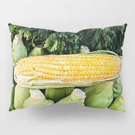 Yellow Corn Over Green Cobs Pillow Sham