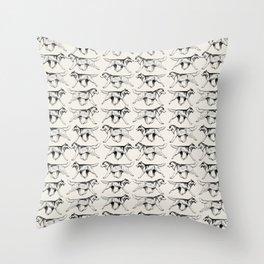 HuskyPrint Throw Pillow
