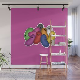 Happy Jelly Beans! (Purple) Wall Mural