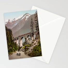 Fayet-Chamonix Railway - The Viaduct With A View Of Montblanc - Circa 1900 Photochrom Stationery Cards