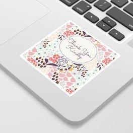 Thank you card in Wild Flower Sticker