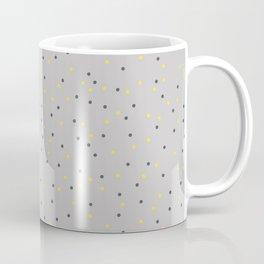 Small Dots Yellow Gray Coffee Mug