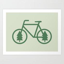 Pacific Northwest Cycling - Bike, Bicycle, Portland, PDX, Seattle, Washington, Oregon, Portlandia Art Print