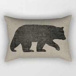 Black Bear Silhouette Rectangular Pillow