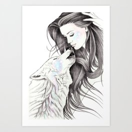Witch Wolf Art Print