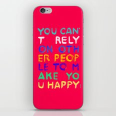 RELY / ABSOLUTELY HAPPY VERSION iPhone & iPod Skin