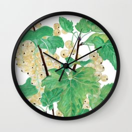Branch of white currants Wall Clock
