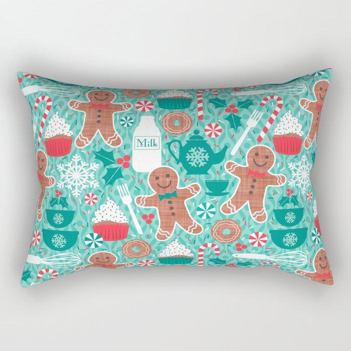 Gingerbread Christmas Treats Rectangular Pillow