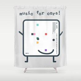 Music for Cars / ABIIOR (1975) Filo Shower Curtain