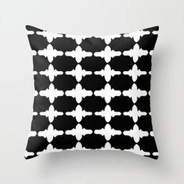 Sophisticated Black and White Print Throw Pillow