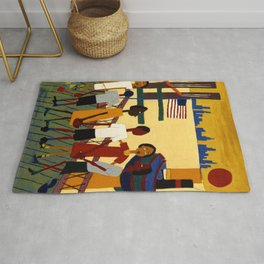 African American Masterpiece 'Ferry' NYC by William Johnson Rug
