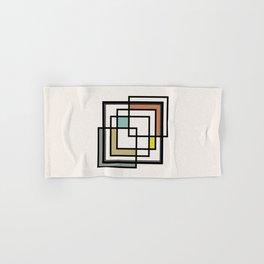 Mid Century Modern Squares Hand & Bath Towel