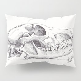 Wolf Skull (Canis lupus) Pillow Sham