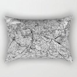 Berlin White Map Rectangular Pillow