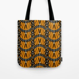 Monarch Butterfly Wings Abstract Patterned Print Tote Bag
