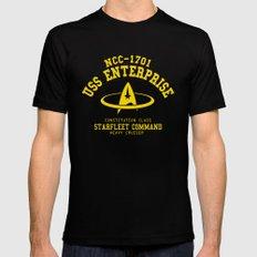 USS Enterprise spaceship Mens Fitted Tee LARGE Black