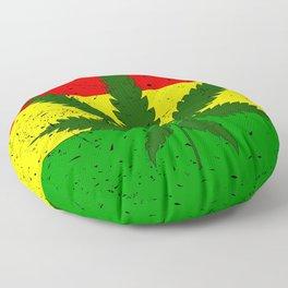 Rastafarian Flag Floor Pillow