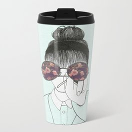 The girl with the glasses Metal Travel Mug