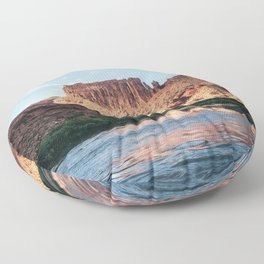 Cathedral Rocks on the River Floor Pillow