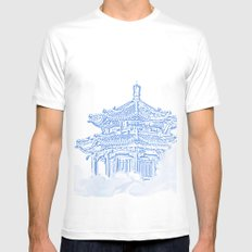 Zen temple in the cloud SMALL White Mens Fitted Tee