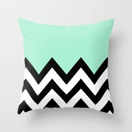 MINT GREEN COLORBLOCK CHEVRON Throw Pillow