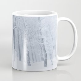 Snow covered frozen forest in winter Coffee Mug