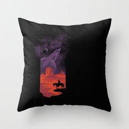 Final Frontiersman II Throw Pillow