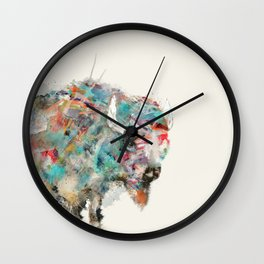 into the wild the buffalo Wall Clock