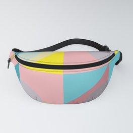 Pastel colours geometrical pattern Fanny Pack