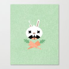 Bunny Death Canvas Print