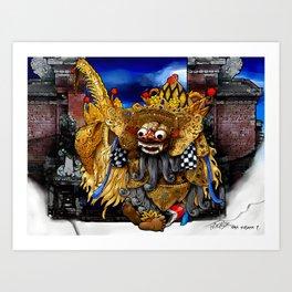 Barong Dance of Bali Art Print