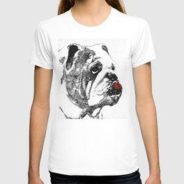 Bulldog Pop Art - How Bout A Kiss 2 - By Sharon Cummings T-shirt